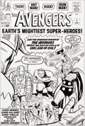 Original Comic Art:Covers, Dick and Rich Ayers The Avengers #1 Cover Re-CreationOriginal Art (c. 2010s)....