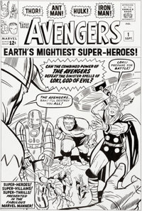 Dick and Rich Ayers The Avengers #1 Cover Re-Creation Original Art (c. 2010s)