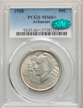 1938 50C Arkansas MS66+ PCGS. CAC. PCGS Population: (118/18 and 23/2+). NGC Census: (56/6 and 5/0+). CDN: $450 Whsle. Bi...