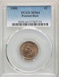 Indian Cents, 1860 1C Pointed Bust MS64 PCGS. PCGS Population: (159/61). NGCCensus: (43/11). CDN: $825 Whsle. Bid for problem-free NGC/P...