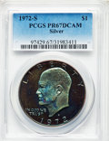 Proof Eisenhower Dollars, 1972-S $1 Silver PR67 Deep Cameo PCGS. PCGS Population:(377/25724). NGC Census: (163/1901). CDN: $17 Whsle. Bid forproble...