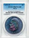 Proof Eisenhower Dollars, 1971-S $1 SILVER PR67 Cameo PCGS. PCGS Population: (267/794). NGCCensus: (233/1041). ...