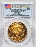 Modern Bullion Coins, 2007-W $50 One-Ounce Gold Buffalo, First Strike, PR70 Deep Cameo PCGS. PCGS Population: (429). NGC Census: (1445)....
