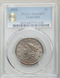 Large Cents, 1820 1C Large Date, N-13, R.1, MS64 Brown PCGS. PCGS Population: (14/4 and 1/0+). NGC Census: (20/16 and 1/0+). MS64....