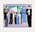 Prints & Multiples:Contemporary, Giancarlo Impiglia (b. 1940). Black Tie, 1983. Serigraph in colors on wove paper. 29 x 32-3/4 inches (73.7 x 83.2 cm) (s...