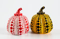 Collectible:Contemporary, Yayoi Kusama X MoMa. Red and Yellow Pumpkin (two works), n.d.. Painted cast resin. 4 x 3-1/4 x 3-1/4 inches (10.2 x 8.3 ...