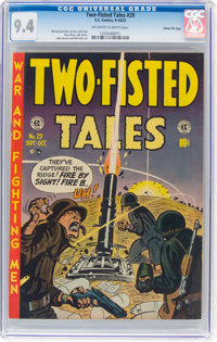 Two-Fisted Tales #29 Gaines File Pedigree (EC, 1952) CGC NM 9.4 Off-white to white pages