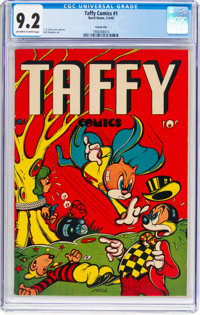 Taffy Comics #1 Carson City Pedigree (Rural Home, 1945) CGC NM- 9.2 Off-white to white pages