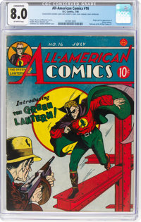 All-American Comics #16 (DC, 1940) CGC Conserved VF 8.0 Off-white pages