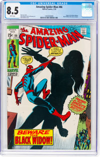 The Amazing Spider-Man #86 (Marvel, 1970) CGC VF+ 8.5 White pages