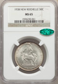 Commemorative Silver, 1938 50C New Rochelle MS65 NGC. CAC. NGC Census: (1048/667). PCGS Population: (1665/1285). MS65. Mintage 15,266. ...