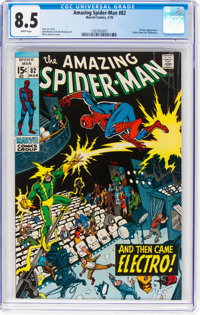 The Amazing Spider-Man #82 (Marvel, 1970) CGC VF+ 8.5 White pages