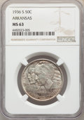 1936-S 50C Arkansas MS63 NGC. NGC Census: (102/879). PCGS Population: (263/1198). CDN: $85 Whsle. Bid for problem-free N...