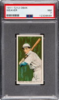 Baseball Cards:Singles (Pre-1930), 1911 T212-3 Obak Buck Weaver PSA NM 7 - Pop Two, None Higher. ...