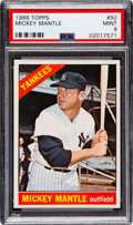 Baseball Cards:Singles (1960-1969), 1966 Topps Mickey Mantle #50 PSA Mint 9 - Only One Higher....