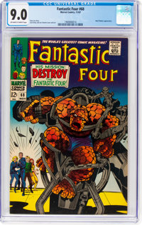 Fantastic Four #68 (Marvel, 1967) CGC VF/NM 9.0 Off-white to white pages