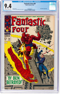 Fantastic Four #69 (Marvel, 1967) CGC NM 9.4 Off-white to white pages