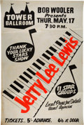 Music Memorabilia:Posters, Jerry Lee Lewis 1962 Liverpool, England Concert Poster.. ...