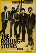 Music Memorabilia:Posters, The Rolling Stones 1964 Promotional Poster from Spain.. ...