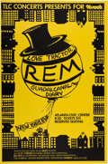 Music Memorabilia:Posters, R.E.M. Atlanta Civic Center Concert Poster (TLC Concerts, 1984). . ...