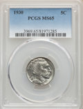Buffalo Nickels: , 1930 5C MS65 PCGS. PCGS Population: (1227/498). NGC Census: (446/98). CDN: $155 Whsle. Bid for problem-free NGC/PCGS MS65. ...