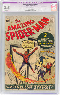 The Amazing Spider-Man #1 (Marvel, 1963) CGC Apparent VG- 3.5 Slight (A) Off-white to white pages