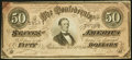 Confederate Notes:1864 Issues, T66 $50 1864 Extremely Fine-About Uncirculated.. ...