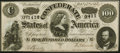 Confederate Notes:1864 Issues, T65 $100 1864 Choice About Uncirculated.. ...