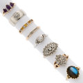 Estate Jewelry:Rings, Diamond, Multi-Stone, Gold Rings. ... (Total: 8 Items)
