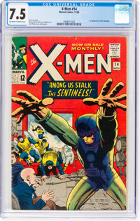 X-Men #14 (Marvel, 1965) CGC VF- 7.5 Off-white to white pages