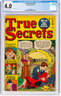 Golden Age (1938-1955):Romance, True Secrets #13 (Marvel/Atlas, 1952) CGC VG 4.0 Cream to off-white pages....