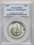 Commemorative Silver, (5)1947 50C Booker T. Washington MS66 PCGS. PCGS Population: (305/10). NGC Census: (150/10). CDN: $105 Whsle. Bid for probl... (Total: 5 item)