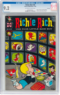 Richie Rich #39 File Copy (Harvey, 1965) CGC NM- 9.2 Off-white to white pages