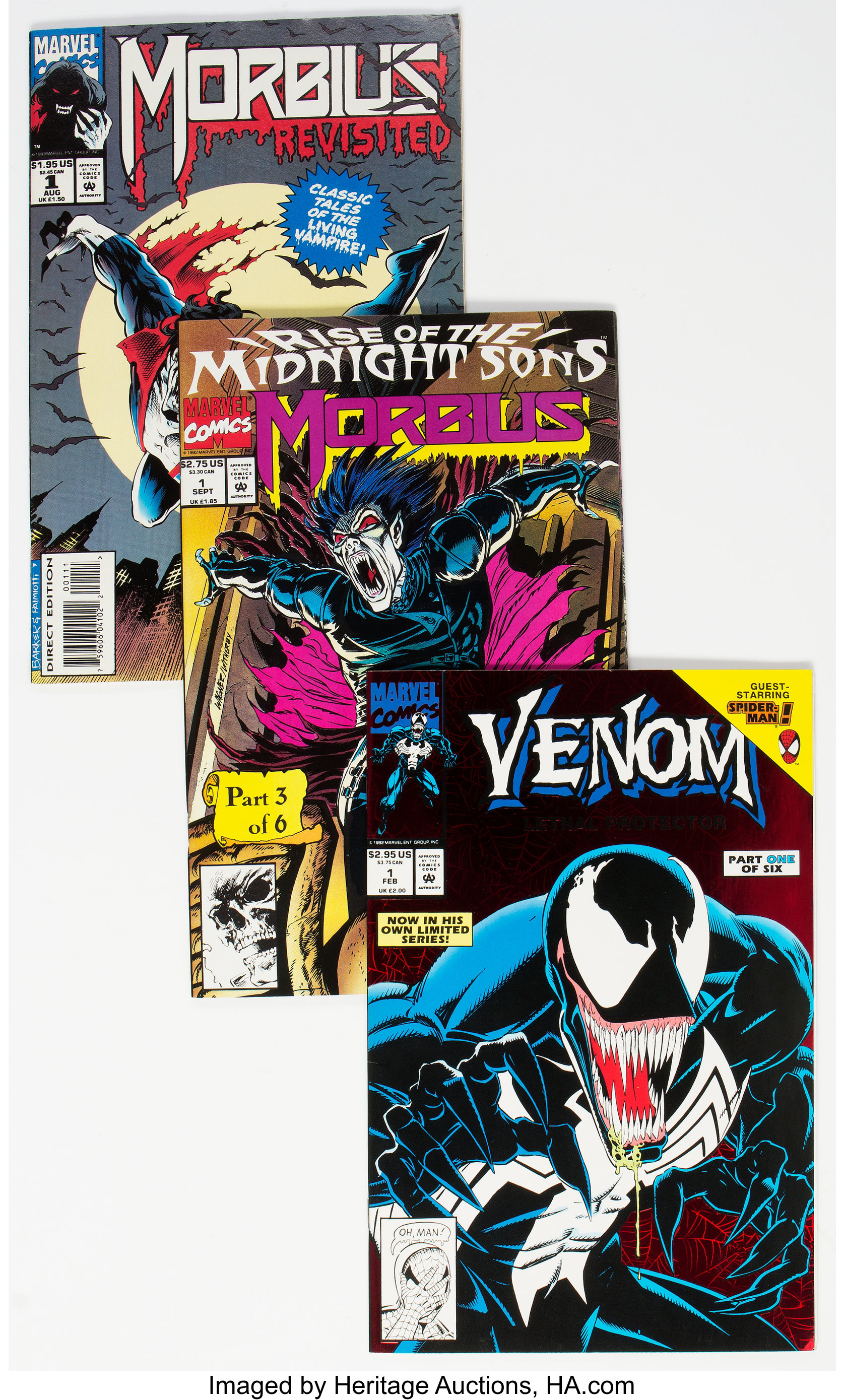 Venom- and Morbius-Related Comics Group of 51 (Marvel, 1990s