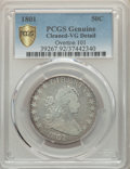 1801 50C O-101, T-2, R.3, -- Cleaning -- PCGS Genuine Gold Shield. VG Details. NGC Census: (3/19 and 0/0+). PCGS Populat...