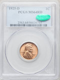 Lincoln Cents, 1925-D 1C MS64 Red PCGS. CAC. PCGS Population: (305/78). NGCCensus: (89/14). CDN: $370 Whsle. Bid for problem-free NGC/PCG...