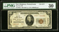 National Bank Notes:Pennsylvania, Port Allegany, PA - $20 1929 Ty. 2 The First NB Ch. # 3877 PMG Very Fine 30.. ...
