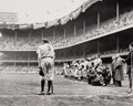 Photographs:Gelatin Silver, Nat Fein (American, 1914-2000). The Babe Bows Out (Babe Ruth), 1948. Gelatin silver, printed later. 10 x 12-3/8 inches (...