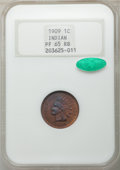 Proof Indian Cents, 1909 1C Indian PR65 Red and Brown NGC. CAC. NGC Census: (51/30). PCGS Population: (64/28). PR65. Mintage 2,175. ...