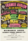 Music Memorabilia:Posters, Biggest Show of Stars Concert Handbill feat. Frankie Avalon, BobbyRydell, The Isley Bros. & Many Others (1960).. ...