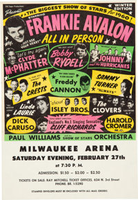 Biggest Show of Stars Concert Handbill feat. Frankie Avalon, Bobby Rydell, The Isley Bros. & Many Others (1960)...