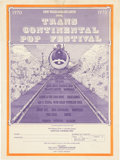 Music Memorabilia:Posters, Grateful Dead/Janis Joplin/The Band/Mountain Trans Contine...