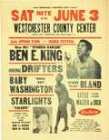 """Music Memorabilia:Posters, Ben E. King/Drifters/Bobby """"Blue"""" Bland Westchester County..."""