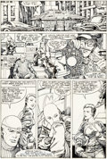 Original Comic Art:Panel Pages, Herb Trimpe and Barry Windsor-Smith Machine Man #1 StoryPage 15 Original Art (Marvel, 1984)...