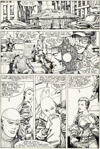 Herb Trimpe and Barry Windsor-Smith Machine Man #1 Story Page 15 Original Art (Marvel, 1984)