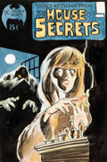 Bernie Wrightson House of Secrets #92 Cover Color Composition - First Appearance of Swamp Th