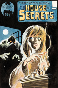 Bernie Wrightson House of Secrets #92 Cover Color Composition - First Appearance of Swamp Thing Original Art (DC