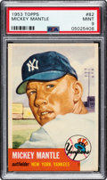 Baseball Cards:Singles (1950-1959), 1953 Topps Mickey Mantle #82 PSA Mint 9....