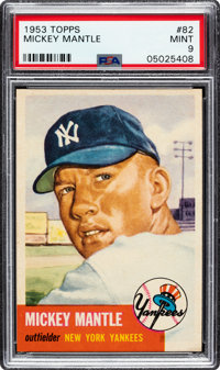 1953 Topps Mickey Mantle #82 PSA Mint 9