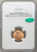 1911 1C MS65 Red NGC. CAC. NGC Census: (50/35). PCGS Population: (224/150). CDN: $325 Whsle. Bid for problem-free NGC/PC...